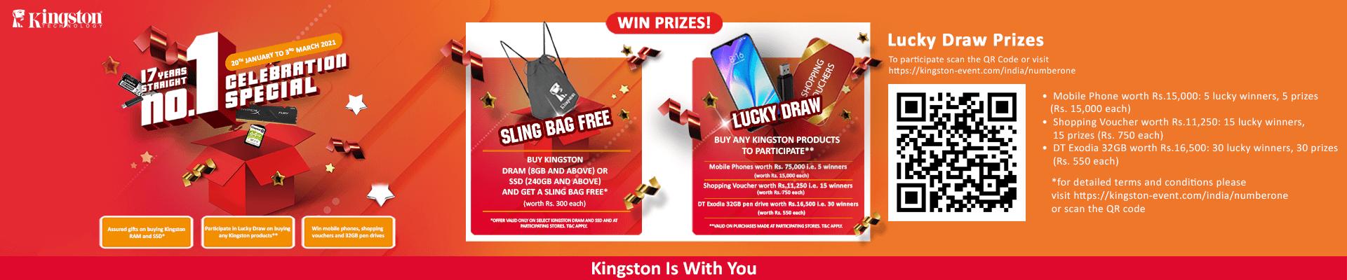 Kingstone Sling Bag Offer