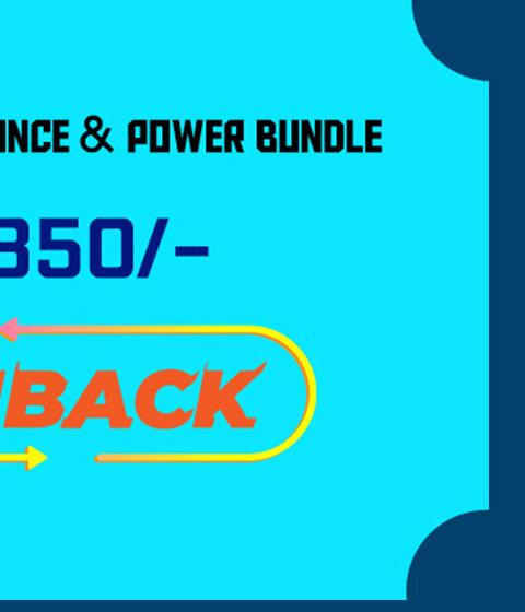 Rs. 850/- Cash Back