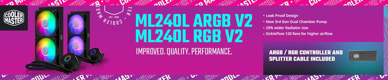 Cooler Master ML240L ARGB V2 and ML240L RGB V2