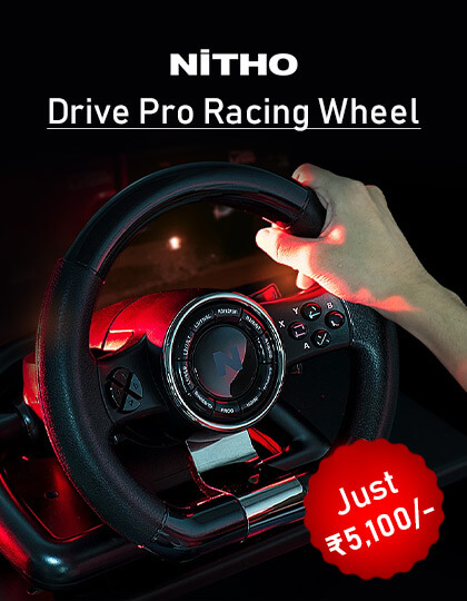 Nitho Drive Pro Racing Wheel at Best Price In India