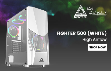 Montech Fighter 500 Cabinet (White)