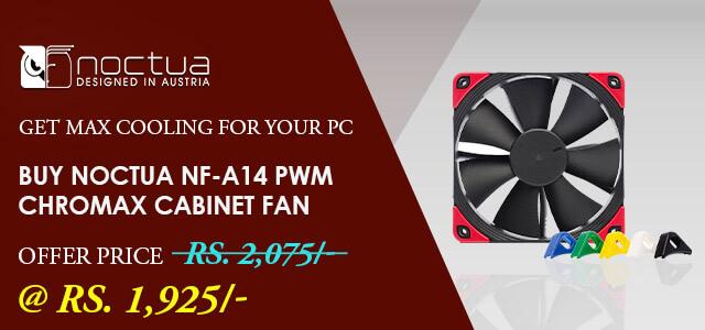 Noctua NF-A14 PWM Chromax Black Swap Cabinet Fan (Single Pack)