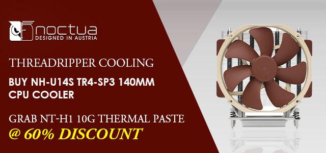 Noctua NH-U14S-TR4 SP3 CPU Air Cooler and NT-H1 10G Paste Combo Offer