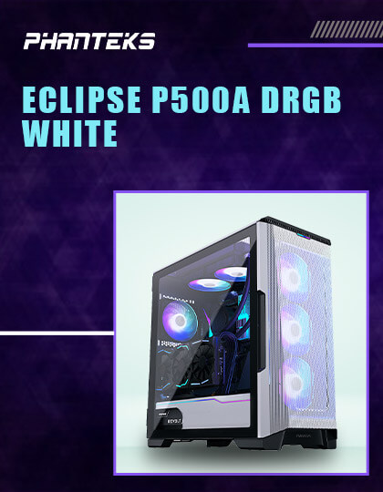 Phanteks Eclipse P500A DRGB Cabinet (White) at Best Price In India