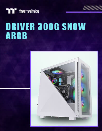 Thermaltake Divider 300 TG Snow ARGB Mid Tower Cabinet (White) at Best Price In India