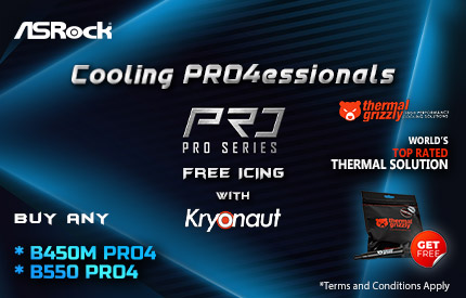 Asrock B450M-PRO4 And B550-PRO4 Mobo Offer