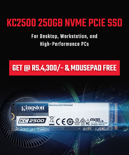 KC2500 250GB NVMe PCIe SSD