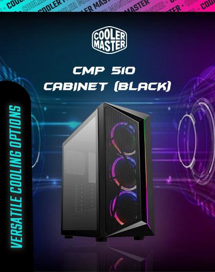 Cooler Master CMP 510 Cabinet (Black) at Best Price in India