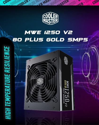 Cooler Master MWE 1250 V2 80 Plus Gold SMPS at Best Price in India