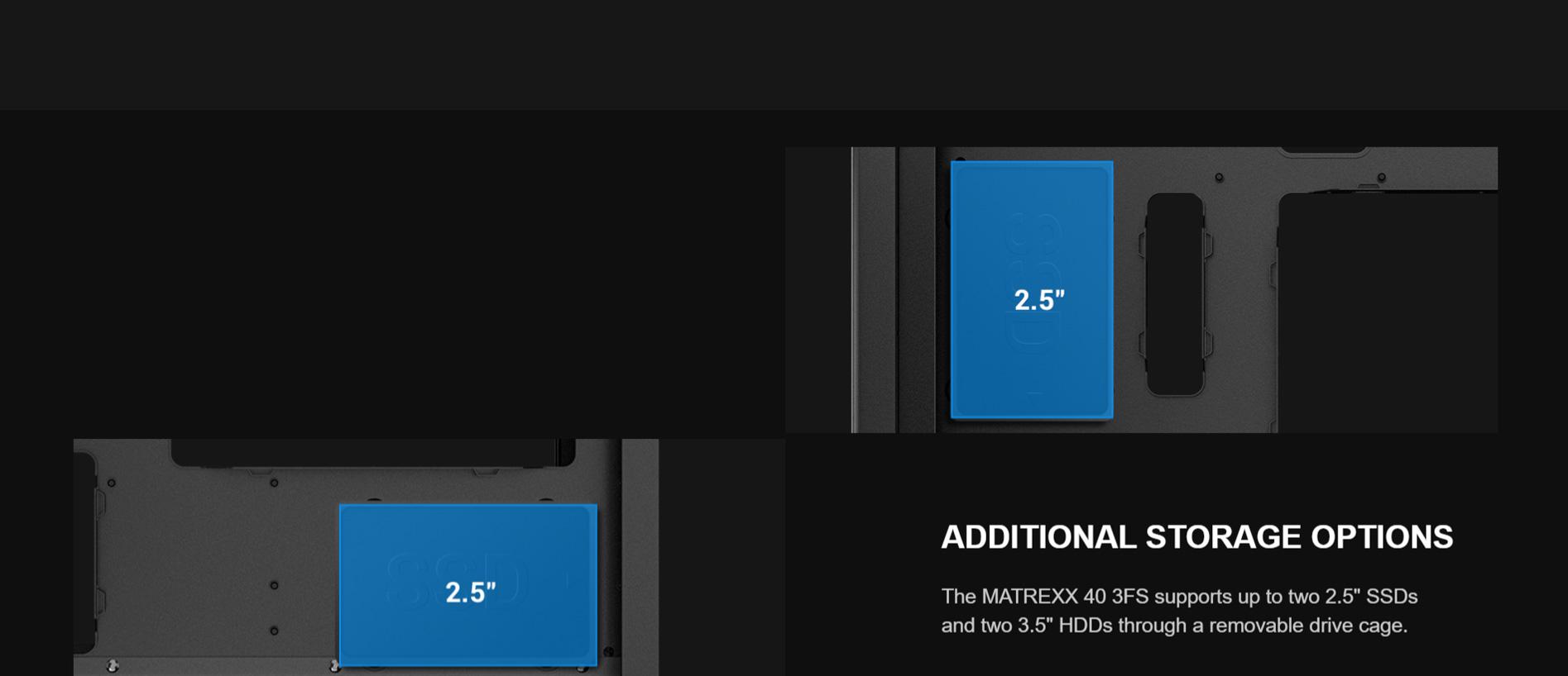 Deepcool Matrexx 40 3FS Tri Color LED Cabinet (Black)