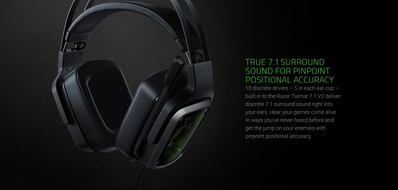 TRUE 7.1 SURROUND SOUND FOR PINPOINT POSITIONAL ACCURACY