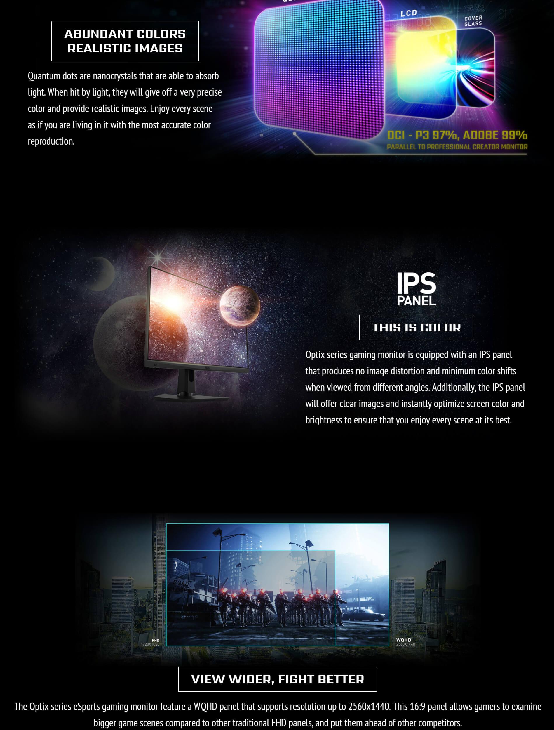 Buy MSI Optix MAG274QRF-QD | 27 165HZ IPS Gaming Monitor